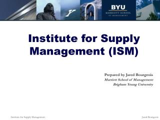 Institute for Supply Management ISM