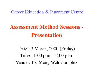 Career Education  Placement Centre