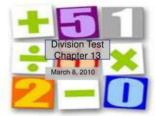 Division Test Chapter 13