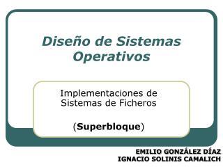 Dise o de Sistemas Operativos
