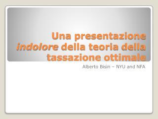 Una presentazione indolore della teoria della tassazione ottimale