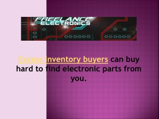 Electronic surplus parts number