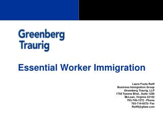 Essential Worker Immigration