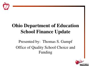 Ohio Department of Education School Finance Update