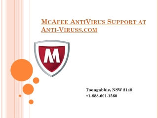 McAfee AntiVirus Support at Anti-Viruss.com