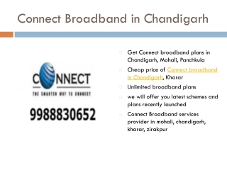 Connect Broadband in Chandigarh, Mohali