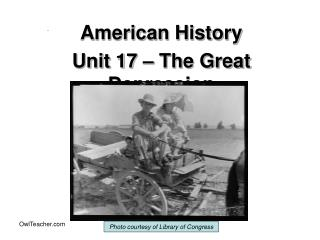 American History Unit 17   The Great Depression