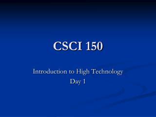 CSCI 150