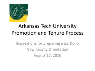 Arkansas Tech University Promotion and Tenure Process