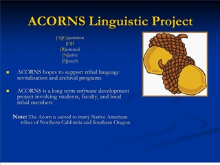 acorns linguistic project