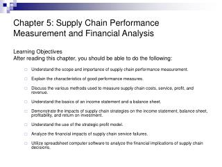 Chapter 5: Supply Chain Performance Measurement and Financial Analysis