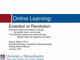 Online Learning: