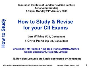 How to Study  Revise  for your CII Exams