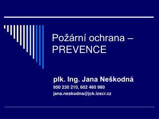 Po  rn  ochrana   PREVENCE
