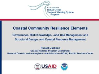 Coastal Community Resilience Elements  Governance, Risk Knowledge, Land Use Management and Structural Design, and Coasta