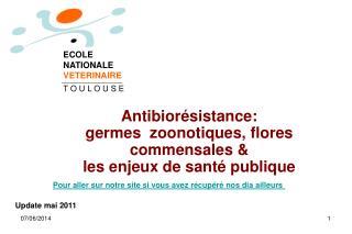 Antibior sistance:  germes  zoonotiques, flores commensales  les enjeux de sant  publique