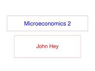Microeconomics 2