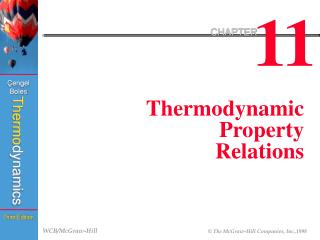 Thermodynamic Property Relations