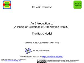 An Introduction to A Model of Sustainable Organisation MoSO  The Basic Model