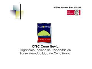 OTEC Cerro Navia Organismo T cnico de Capacitaci n Ilustre Municipalidad de Cerro Navia