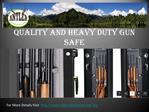 Best Gun Safes for Sale in Australia