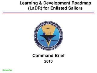 Learning  Development Roadmap LaDR for Enlisted Sailors