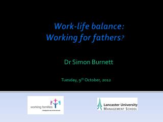 Work-life balance:  Working for fathers