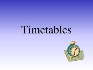 Timetables