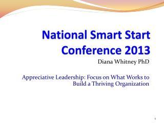 National Smart Start Conference 2013
