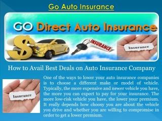 Go Auto Insurance Claims