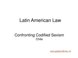 Confronting Codified Sexism Chile