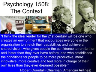 psychology 1508: the context