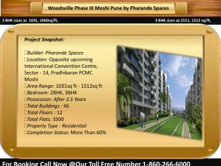Woodsville Phase 3 Moshi Pune by Pharande Spaces, Call 90287