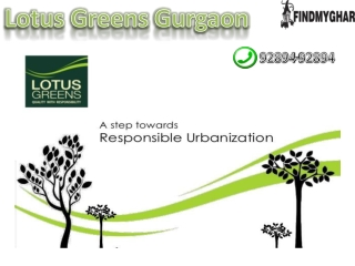 Lotus Greens Gurgaon