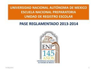 UNIVERSIDAD NACIONAL AUT NOMA DE MEXICO ESCUELA NACIONAL PREPARATORIA UNIDAD DE REGISTRO ESCOLAR
