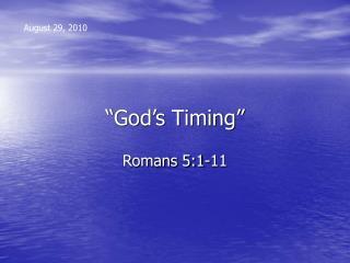 God s Timing