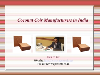 Coco Peat Supplier, Coir Fiber Exporter in India