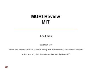 MURI Review MIT