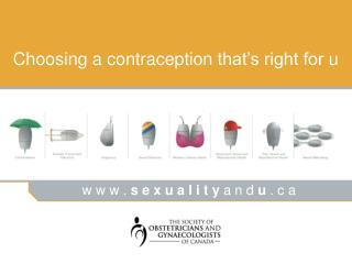 Choosing a contraception that s right for u