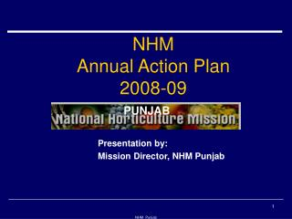 NHM Annual Action Plan  2008-09