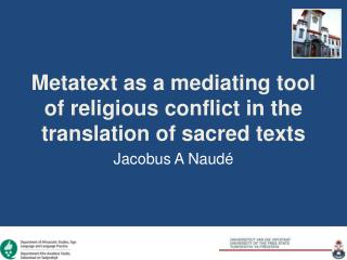 Metatext as a mediating tool of religious conflict in the translation of sacred texts