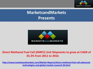 Direct Methanol Fuel Cell Market research report.