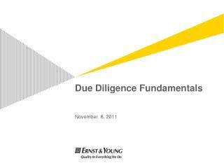 Due Diligence Fundamentals