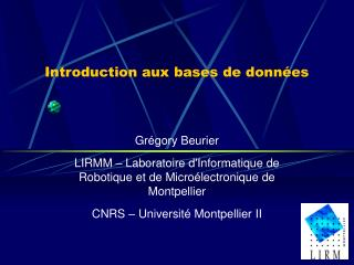 Introduction aux bases de donn es