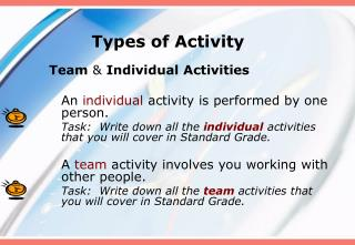 Types of Activity