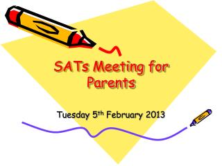 SATs Meeting for Parents