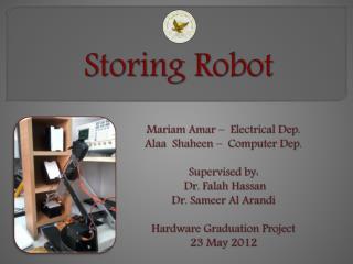 Storing Robot