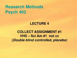 Research Methods Psych 402