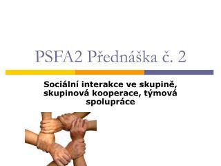 PSFA2 Predn  ka c. 2