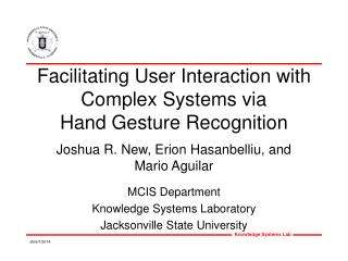 Facilitating User Interaction with Complex Systems via Hand Gesture Recognition